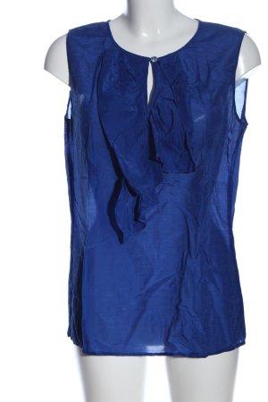 Escada ärmellose Bluse blau Casual-Look
