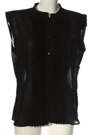 Escada ärmellose Bluse schwarz Casual-Look