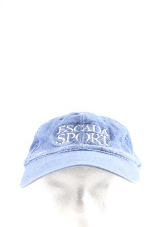 Escada Baseballówka niebieski Wyhaftowany logo W stylu casual