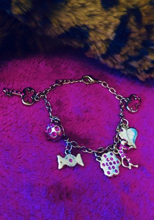 Escada Charm Bracelet gold-colored-pink