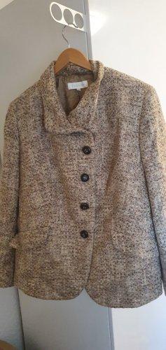 Escada Blazer in tweed marrone chiaro-crema