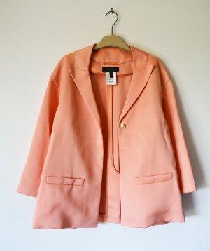 Escada Blazer Babelle Jacke Oversized Apricot Lachs Taft S 36