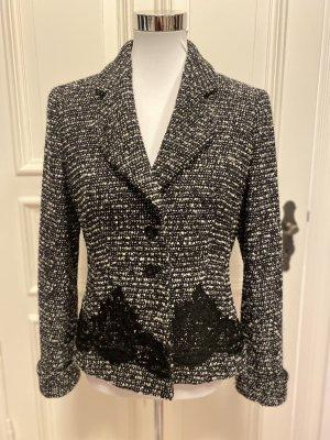Escada Blazer in tweed nero-bianco