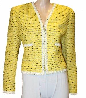 ESCADA Boucle Blazer gelb Wolle Gr. 42