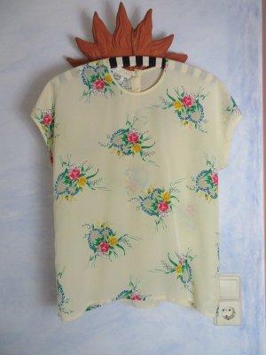 ESCADA by Margaretha Ley Seidenbluse - 100% Seide - Floralmuster - Gr. 38 - Pastell - Vintage