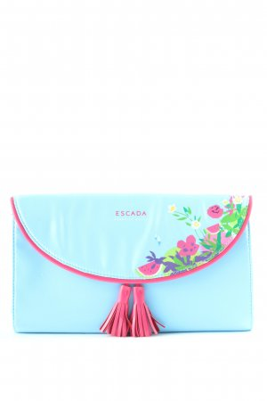 Escada Clutch blau-pink Motivdruck Casual-Look