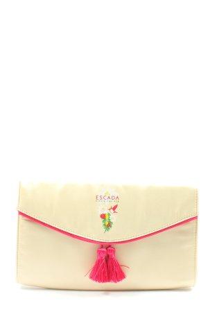 Escada Clutch creme-pink Motivdruck Casual-Look