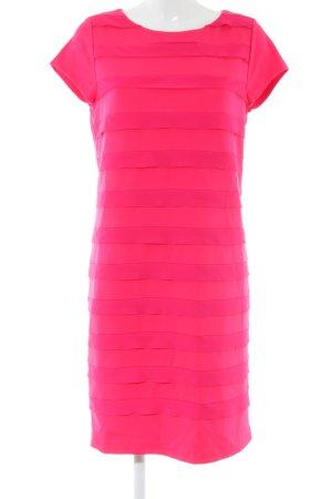 Escada Cocktailkleid pink Streifenmuster Business-Look