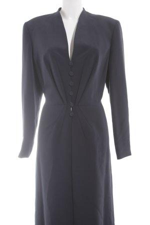 Escada Couture Cappotto lungo fino a terra blu scuro elegante