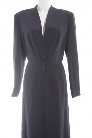 Escada Couture bodenlanger Mantel dunkelblau Elegant