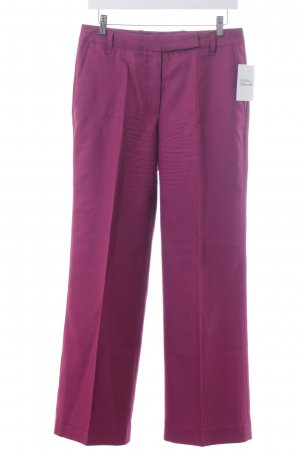 Escada Edition Bundfaltenhose purpur-lila Business-Look