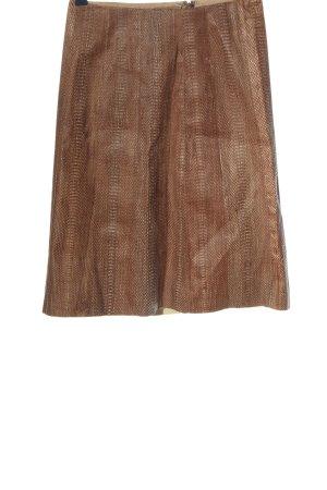 Escada Edition Skórzana spódnica brązowy W stylu casual