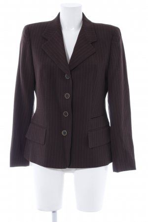 Escada Elements Kurz-Blazer dunkelbraun Nadelstreifen Business-Look