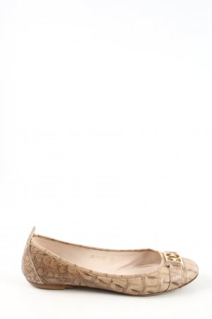 Escada Foldable Ballet Flats cream animal pattern casual look