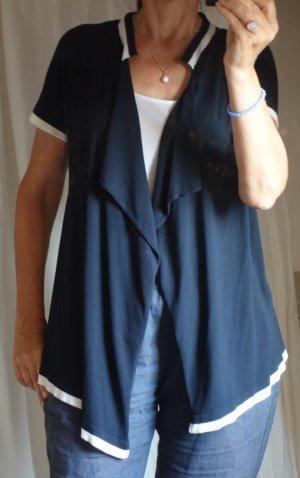 Escada Bolero lavorato a maglia blu scuro-bianco Tessuto misto