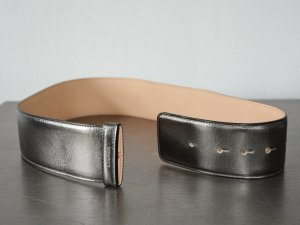 Escada Waist Belt silver-colored-bronze-colored leather