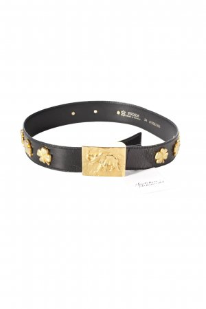 Escada Belt black-gold-colored Metal Elements