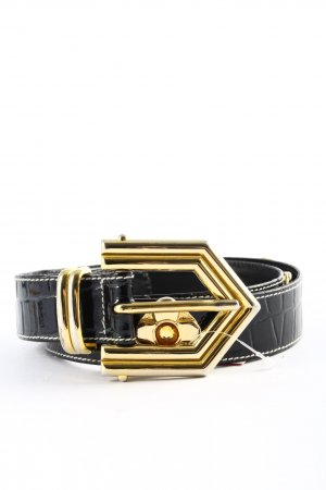 Escada Belt Buckle black-gold-colored animal pattern casual look