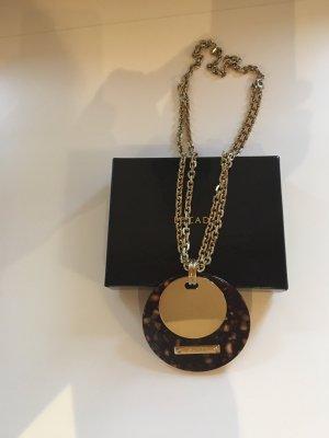 Escada Halskette mit Schildpatt-Optik Anhänger - neuwertig
