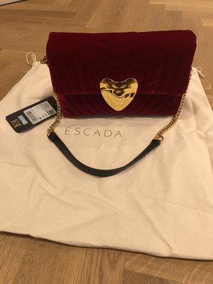 Escada Heart Bag Samt Red Ruby