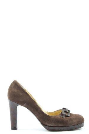 Escada High Heels braun Business-Look