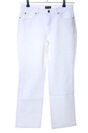 Escada High Waist Jeans weiß Business-Look