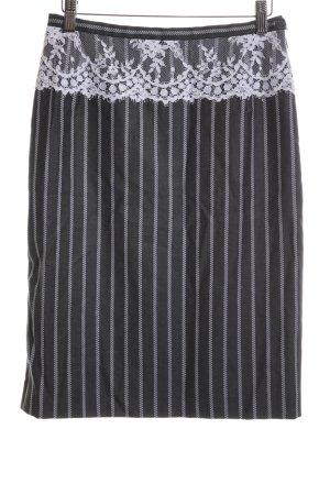 Escada Jupe taille haute noir-blanc motif rayé style d'affaires