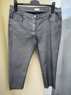 Escada Pantalone cinque tasche nero-argento Cotone