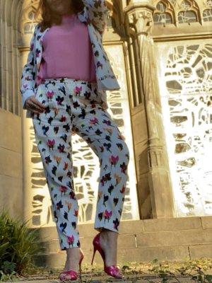 Escada Tailleur-pantalon blanc