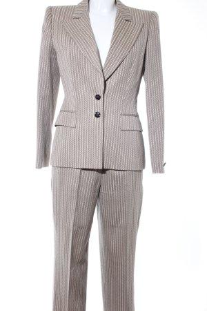 Escada Tailleur-pantalon crème-noir motif rayé style d'affaires