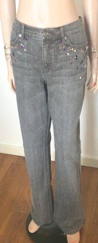 Escada Jeans stretch gris foncé-gris coton
