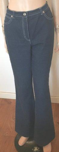 Escada Low Rise jeans staalblauw-wolwit Katoen