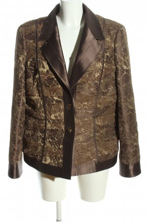 Escada Jersey Blazer bronze-colored-gold-colored abstract pattern casual look