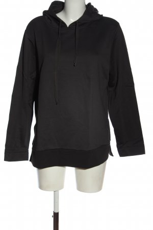 Escada Kapuzensweatshirt schwarz-hellgrau Motivdruck Casual-Look