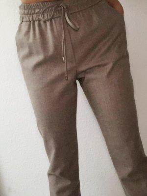 Escada klassische elegante Hose lässig Tulipasa S 36 Wolle soft Taupe Grau Beige