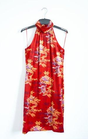 Escada Qipao multicolored silk
