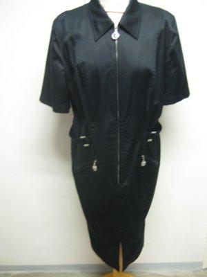 Escada Vestido de camuflaje negro Algodón