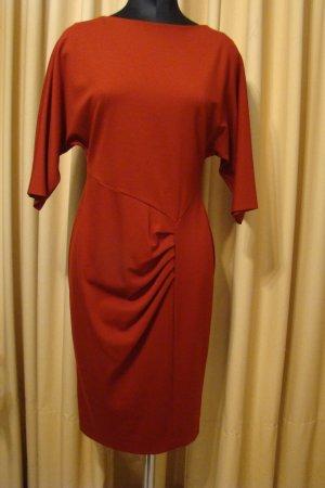 Escada Robe fourreau rouge brique tissu mixte