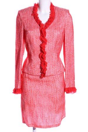 Escada Kostüm rot Streifenmuster Vintage-Look