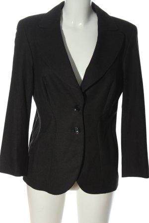 Escada Korte blazer zwart gestippeld zakelijke stijl