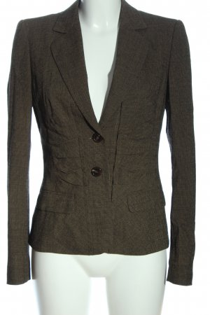 Escada Korte blazer bruin geruite print zakelijke stijl
