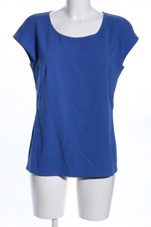 Escada Kurzarm-Bluse blau Casual-Look