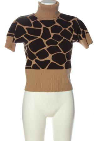 Escada Sweter z krótkim rękawem w kolorze białej wełny-czarny W stylu casual