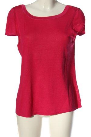 Escada Jersey de manga corta rojo look casual
