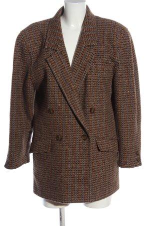 Escada Cappotto corto marrone-arancione chiaro motivo a righe stile casual