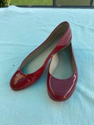 Escada Ballerines en cuir verni rouge cuir