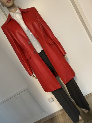 Escada Leather Coat red leather