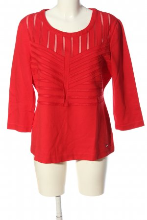 Escada Langarm-Bluse rot Streifenmuster Casual-Look
