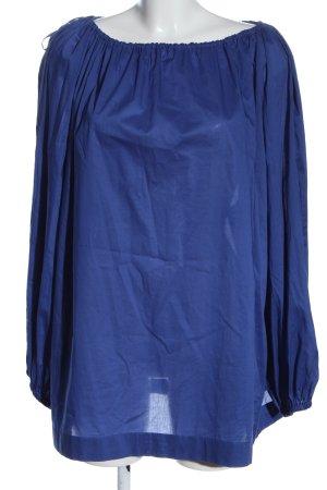 Escada Langarm-Bluse blau Casual-Look