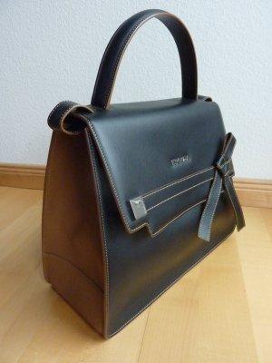 Escada Leder Schulter-Tasche, dunkel braun/beige, grosses Modell, neu